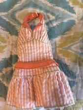 Retro Barbie Jumper in orange with strips!
