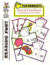 Kindergarten, First Grade Reproducible MORE VOWELS FLIP BOOKS (NEW)