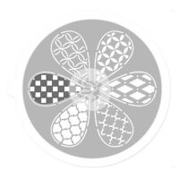 PRIMA Stencil PINWHEEL 9Inch 6 Styles use with Fabric Paper Chipboard & CanvasL1