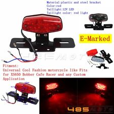 E-Marked Motorcycle LED Taillight Brake Lamp Lucas Style Fits XS650 Cafe Racer