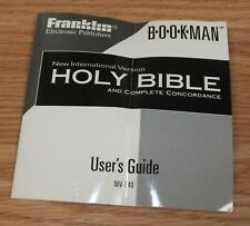 *Replacement* User's Guide For Electronic Franklin Bookman Niv-640 Holy Bible