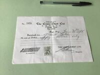 The Linen Chest Ltd 1955 Hong Kong Stamp Duty Receipt Ref R32319