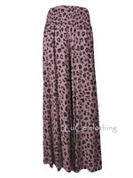 NEW Womens Quirky Animal Print Italian Palazzo Trousers Ladies Viscose Pants