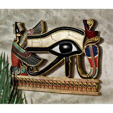 Egyptian Eye Of Horus Design Toscano Hand Painted Wall Sculpture