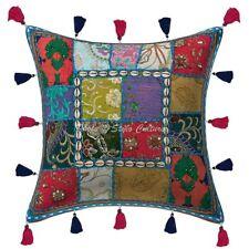 Bohemian Decorative Vintage Patchwork Cotton Cushion Cover Pillowcase Throw 16''