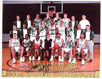 1999-2000 Michigan State Spartans basketball team signed photo 2000 Champs! Izzo