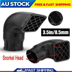 """Universal Snorkel Head Air Ram Head Airflow Replacement 3.5"""" 85mm AU Shipping"""