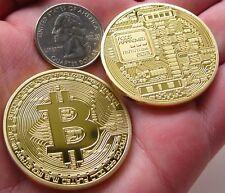 1x Rare Collectible In Stock New Golden Iron Bitcoin Commemorative Coin Gift