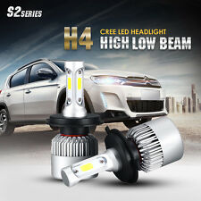 2x H4 200W 20000LM LED Headlights Cree Hi-Lo Beam Bulb 9003 HB2 High Power 6500K