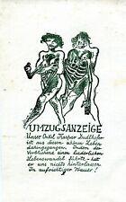 FINGESTEN Michel, Umzugsanzeige, Erotic, Death, German text, Very rare !