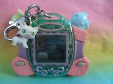 Littlest Pet Shop White Kitty Cat Digital Virtual Pets Pink Purple Mouse & Fish