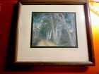 SIGNED WALLACE NUTTING DIRT ROAD BY BIRCH TREES HAND TINTED FRAMED PHOTOGRAPH