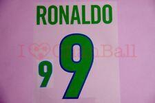 Ronaldo #9 1998-2000 Brazil Homekit Nameset Printing
