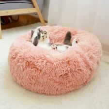 Soft Plush Calming Pet Bed Washable Cushion Luxury Puppy Dog Kitten Cat Mat Nest