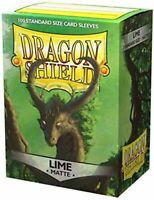 Dragon Shield Sleeves: Matte Lime Sleeves (Box of 100)