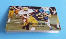 1990 CIAU/CIS/Usports Football UBC Thunderbirds Pocket Schedule