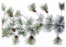 Artificial Smokey Pine Garland w/Pine Cones Christmas Decor 9 ft NEW XG89228GA9