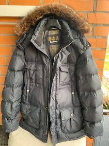 Barbour bolingbroke Daunenjacke Arctic Parka Winterjacke mit Fell Kapuze gr L