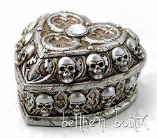 Goth: Alchemy The Vault Boite Bijoux Coeur Tête de Mort Paladin's Tithe Gothique