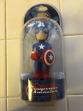"Captain America 6"" Tall NEW Neca Solar Power Body Knockers Bobbleheads Marvel"