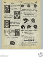 1932 PAPER AD 4 PG Dupont Dynamite Blasting Powder Machine Specs Red Cross