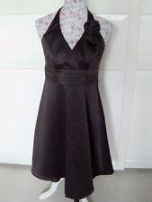 PROM DRESS !! DEBUT Halter Neck Flared Dress with Underskirt &  Side Zip UK 12