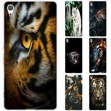 Tiger dessana stripes tpu case protective silicone mobile case for sony