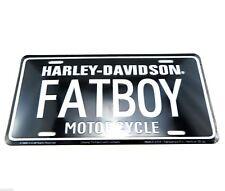 Harley Davidson FATBOY Motorcycle Licensed Aluminum Metal License Plate Sign Tag