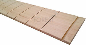 """Hard maple fretboard 34"""" bass guitar, observed radius 12"""" with nut slot"""