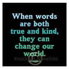 "Quotable Magnet - ""Words Are Both True And Kind Funny Novelty Fridge Magnet"