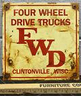 Four+Wheel+Drive+Trucks+Porcelain+Sign+Engine+Motor+Gear+Shift+Gas+Oil