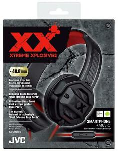 JVC Black & Red Xtreme Xplosives Wired On Ear Headphone with Microphone & Remote