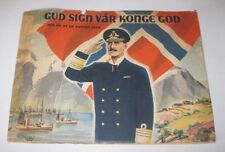 1945 Gud Sign Konge King Haakon In Great Britain During WWII Damm Oslo Norway