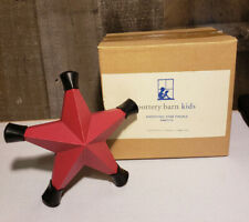 NEW in Box Pottery Barn Kids Red Metal Star 2 Curtain Finials