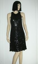 NEW CARMEN MARC VOLVO  COLLECTION FULL BEADED  COUTURE SILK  DRESS Sz 10