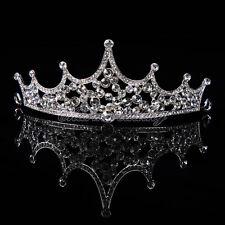 Princess Crystal Crown Bridal Tiara Jewelry Wedding Headband Adult & Flower Girl