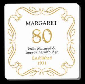 PERSONALISED 80 / 80th BIRTHDAY ANY AGE YEAR  COASTER - GIFT PRESENT