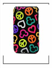 Disney Parks Mobile Peace Love Mickey iPhone 3G 3GS Cover Clip Case & Screen Gua