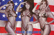 LOT OF 2 POSTERS : TRUE COLORS - PATRIOTIC    SEXY FEMALE MODELS   #3466  LP41 K