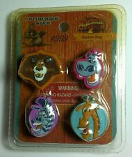 NEW MADAGAACAR AFRICA GLORIA ALEX MELMAN MARTY RUBBER RING 4 PC SET 1 PACKAGE