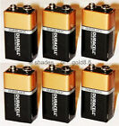 6 x 9 Volt (9V) Duracell CopperTop Duralock Alkaline Batteries (MN1604, 6LR61)