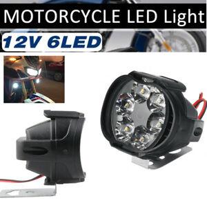 2PCS 12V Motorcycle LED Fog Lights Driving Spot Lamp Headlights for Bike ATV UTV