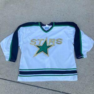 VTG 90s Gerry Cosby Center Ice Minneosta North Stars Blank Blue Jersey 52 CCM