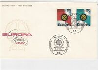 germany 1967 europa stamps cover ref 20257