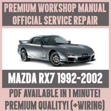 >WORKSHOP MANUAL SERVICE & REPAIR GUIDE for MAZDA RX7 1992-2002 +WIRING