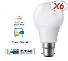 Pack 6 Ampoules LED B22 Baïonnette 12W (eq. 75 watt) Blanc Chaud marque V-TAC