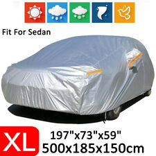 X-Large Full Sedan Car Cover Waterproof Breathable Dust Scratch Rain Resistant