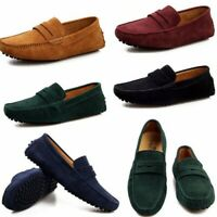 US Men Driving Moccasin Casual Suede Leather Slip On Shoes Loafer Flat Casual