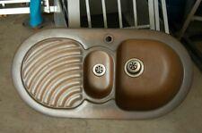 Granitspüle Einbau Spüle oval rund Küchenspüle Braun