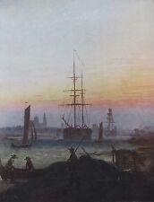 Caspar David Friedrich GREIFSWALDE HAFEN Reproduktion print deutscher Maler